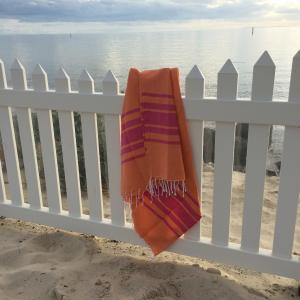 Orange / Pink Hammam- XL Turkish  Towel
