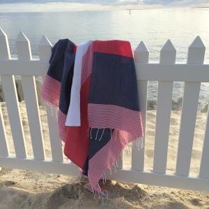 Navy Regatta Hammam- XL Turkish Towel