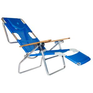 OSTRICH 3IN1 - ALUMINIUM BEACH LOUNGER- BLUE