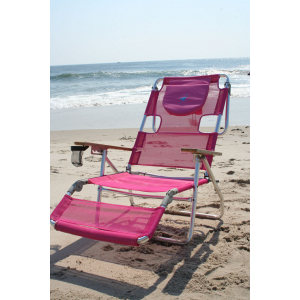 OSTRICH 3IN1 - ALUMINIUM BEACH LOUNGER- PINK