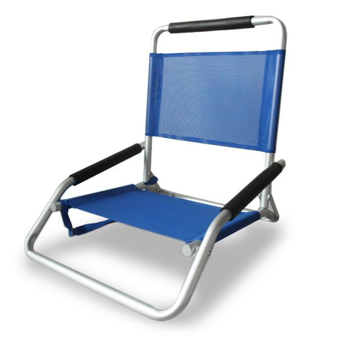 ostrich low sand beach chair (blue) - beach chair - hollie & harrie
