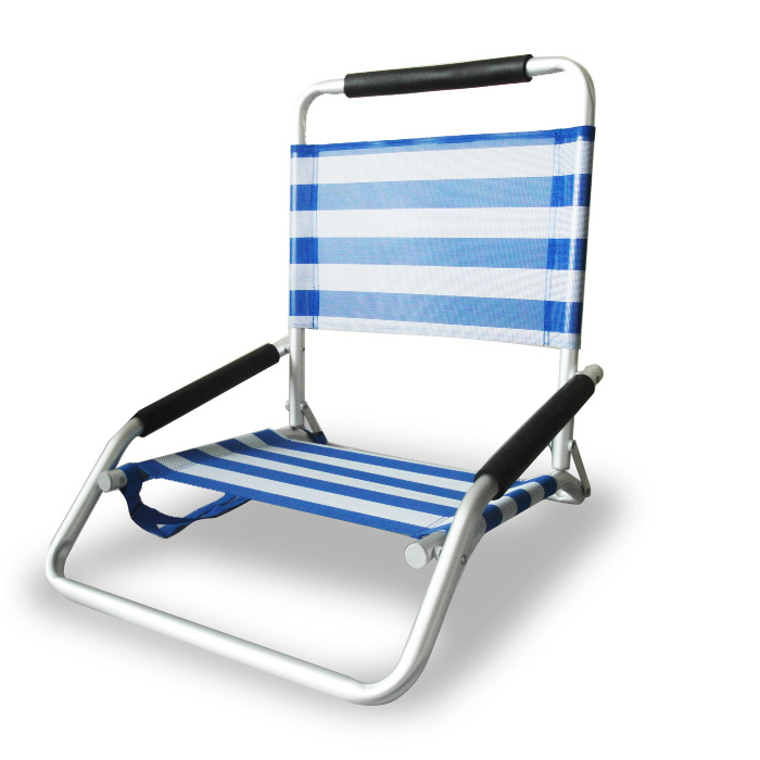ostrich low sand beach chair blue stripe beach chair hollie