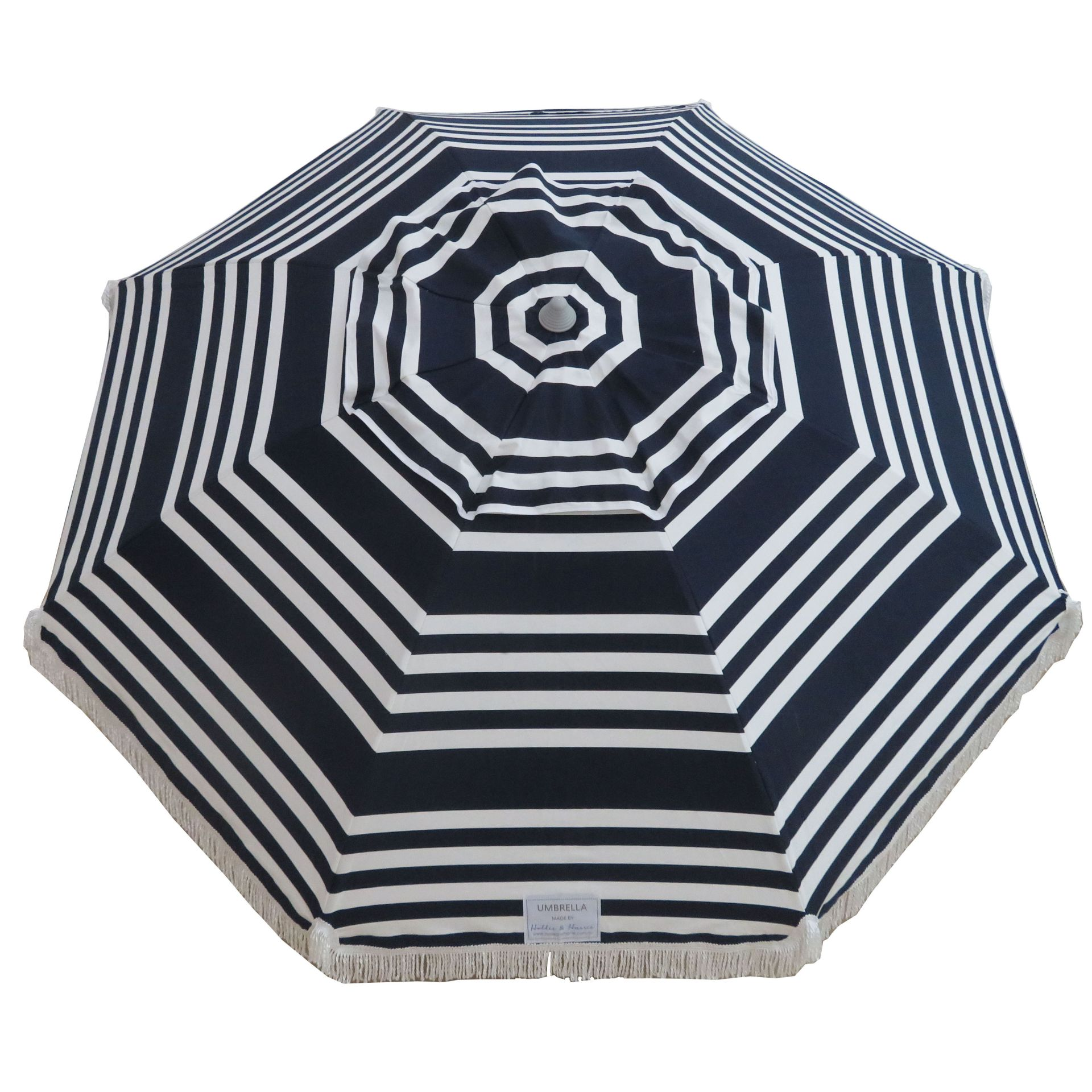 Hello Sailor 210cm Fringe Beach and Shade Umbrella by Hollie and Harrie