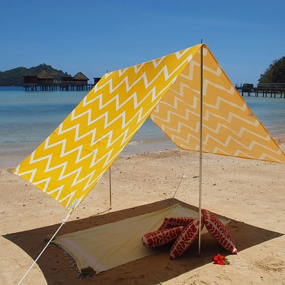 SOMBRILLA MOANA BEACH SHADE- CHEVRON YELLOW
