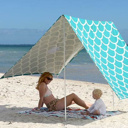 SOMBRILLA MOANA BEACH SHADE - AQUA SHELLS